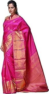 Uppada Women's Kanchipuram Silk Handloom Saree with Border Design