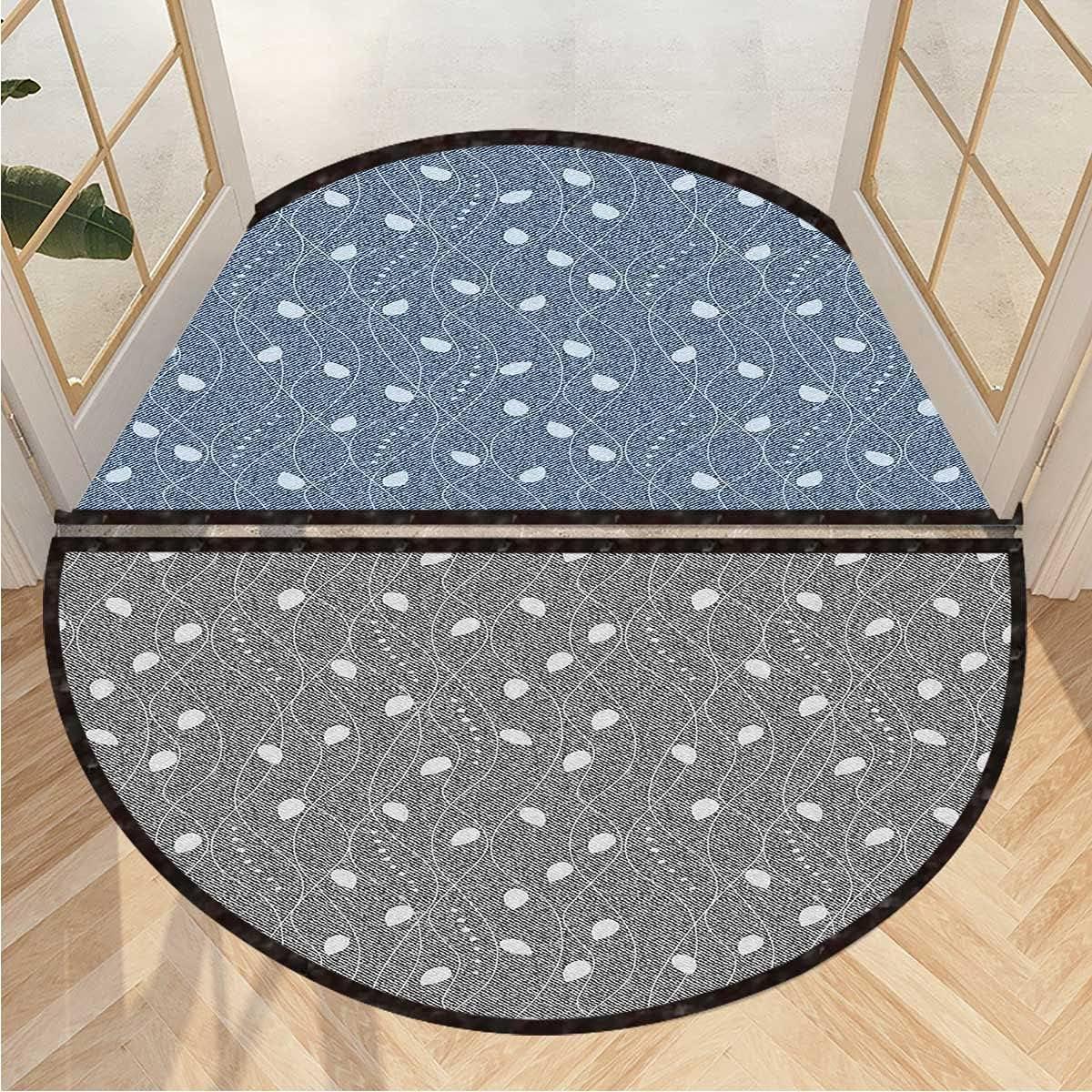 All stores are sold Semicircular Floor Mat Branches Over Indoor Outdo Denim Door Max 66% OFF