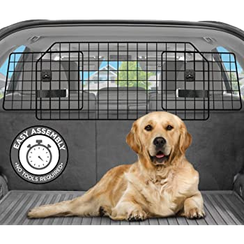 Pawple Dog Car Barrier for SUV's, Cars & Vehicles, Trucks, Adjustable Large Pet Barrier, Heavy-Duty Wire Mesh- Universal Fit Vehicles Divider