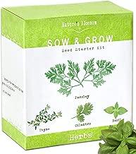 Nature's Blossom Herb Garden Seed Starter Kit. Grow 4 Herbs from Organic Seeds..