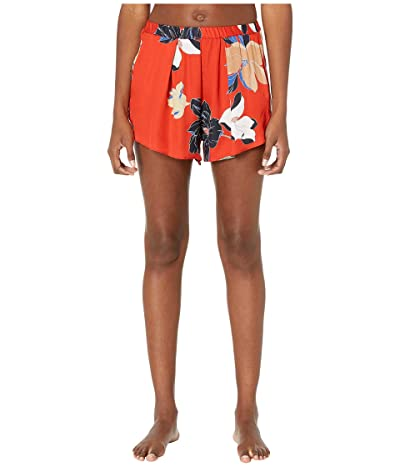Maison Du Soir Firenze Shorts (Red Floral) Women