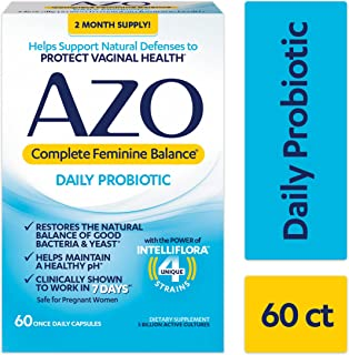 Sponsored Ad - AZO Complete Feminine Balance Daily Probiotics for Women - 60 Count - Clinically Proven to Help Protect Vag...