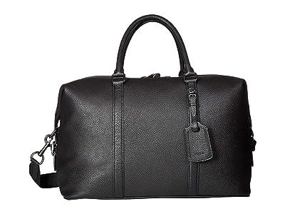 COACH Explorer Bag in Pebbled Leather (Black) Duffel Bags