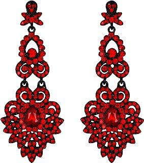 Dark Red Trifle Soutache earrings Red earrings Victorian earrings Small earrings Gift for woman Crystal earrings Soutache jewelry