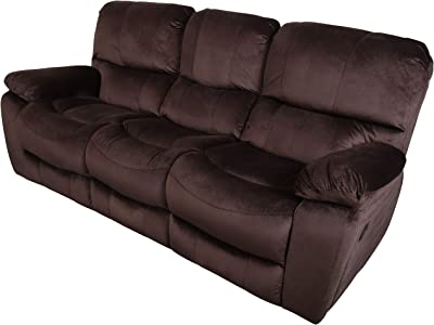 Amazon.com: Merax Recliner Sofa for Living Room PU Leather ...