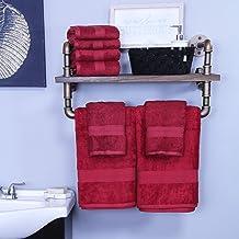 مجموعة مناشف حمام سوبيريور من رايون مصنوعة من الخيزران والقطن، ناعمة/ماصة Hand Towel Set 650GSM HAND CM