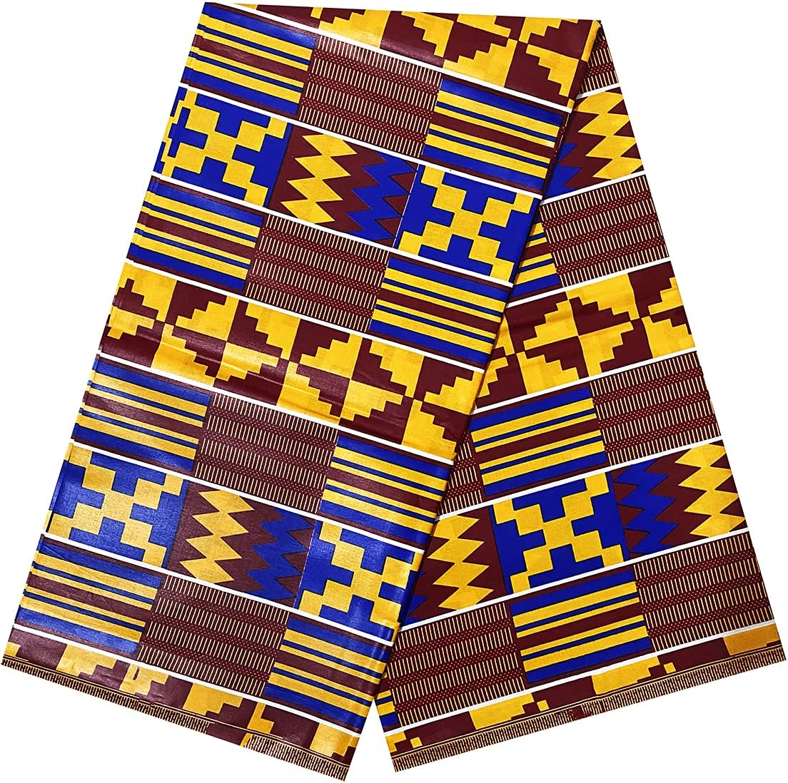 Max 74% OFF Alina Belle Tulsa Mall African Print Wax Kente 3 Fabric A Yard