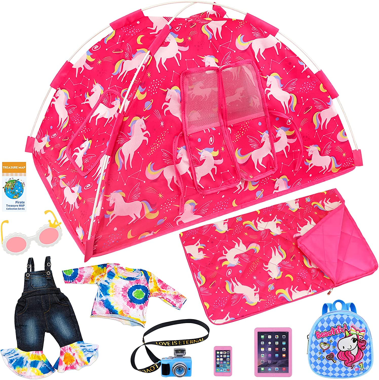 Ecore Fun 9 Fashionable Items American 18 Dolls Unicorn Te inch Girl Seattle Mall Camping