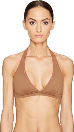 Letarte - Halter Top with Whipstitch