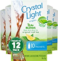 Crystal Light Singles, Iced Tea, 120 Packets (12 Boxes of 10 Packets)