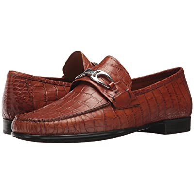 Right Bank Shoe Cotm Charles Bit Loafer (Saddle Gator) Men
