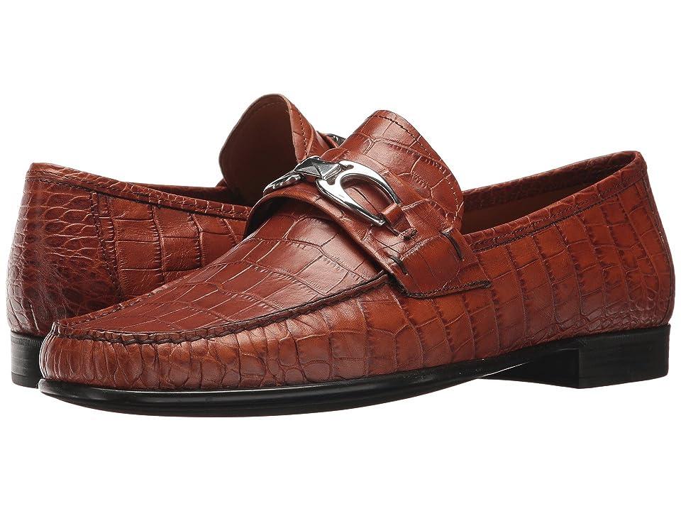 Right Bank Shoe Cotm Charles Bit Loafer (Saddle Gator) Men