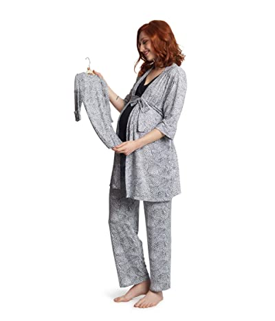 Everly Grey Analise Maternity/Nursing Mommy Me Five-Piece PJ Set (Twilight) Women