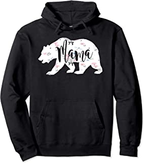 Mama Floral Mom Bear Cute Gift Hoodie Sweatshirt