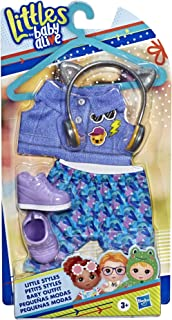 Baby Alive E7142AS00  Littles, Little Styles Bounce to The Beat Outfit for Littles Dolls, Brown
