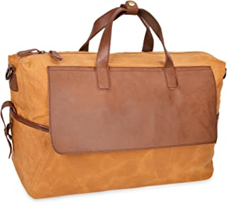ALTOSY Canvas Travel Duffle Bag Weekend Overnight Tote 5513 (Yellow)
