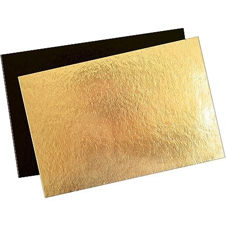 Lot de 10 Supports /à G/âteau Carr/és en Carton Couleurs et Dimensions au choix Or//Noir, 24 cm