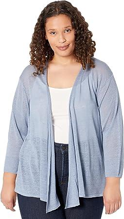 Plus Size Four-Way Cardigan
