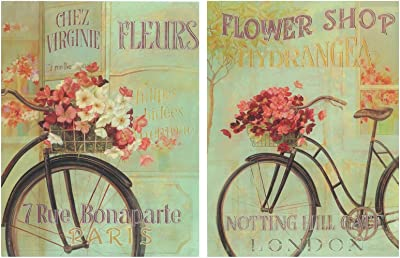 Dcine Cuadro de Bicicleta Bici Antigua Vintage. Set de 2 Cuadros ...