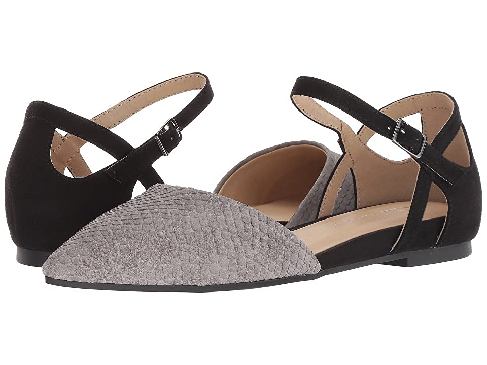 CL By Laundry Helena (Grey/Black Snake Suede) Women