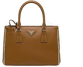 Prada Women's Saffiano Lux Brown Handbag 1BA863