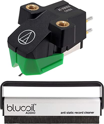 lowest Audio Technica AT-VM95E Dual Moving Magnet wholesale Turntable Cartridge (Green) Bundle outlet online sale with Blucoil Carbon Anti-Static Vinyl Cleaning Brush outlet sale