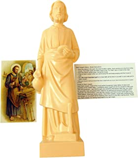 Westman Works St Joseph the Home Protector Deluxe Set with 8 Inch Statue and Holy Prayer Card and Instructions Made in the USA