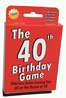The 40th Birthday Game. Fun new gift or party idea specially designed for people turning forty.