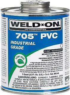 Weldon 705 10089 Industrial Grade Plumbing Cement Medium-Bodied Fast-Setting, 1 Quart, Clear