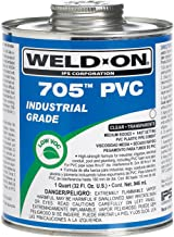 Weldon 705 10097 Industrial Grade Plumbing Cement Medium-Bodied Fast-Setting, 1/2 Pint, Clear