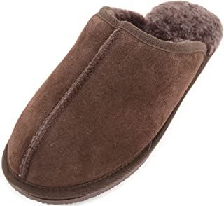 Mens Sheepskin Mules/Slippers with Man Made Sole