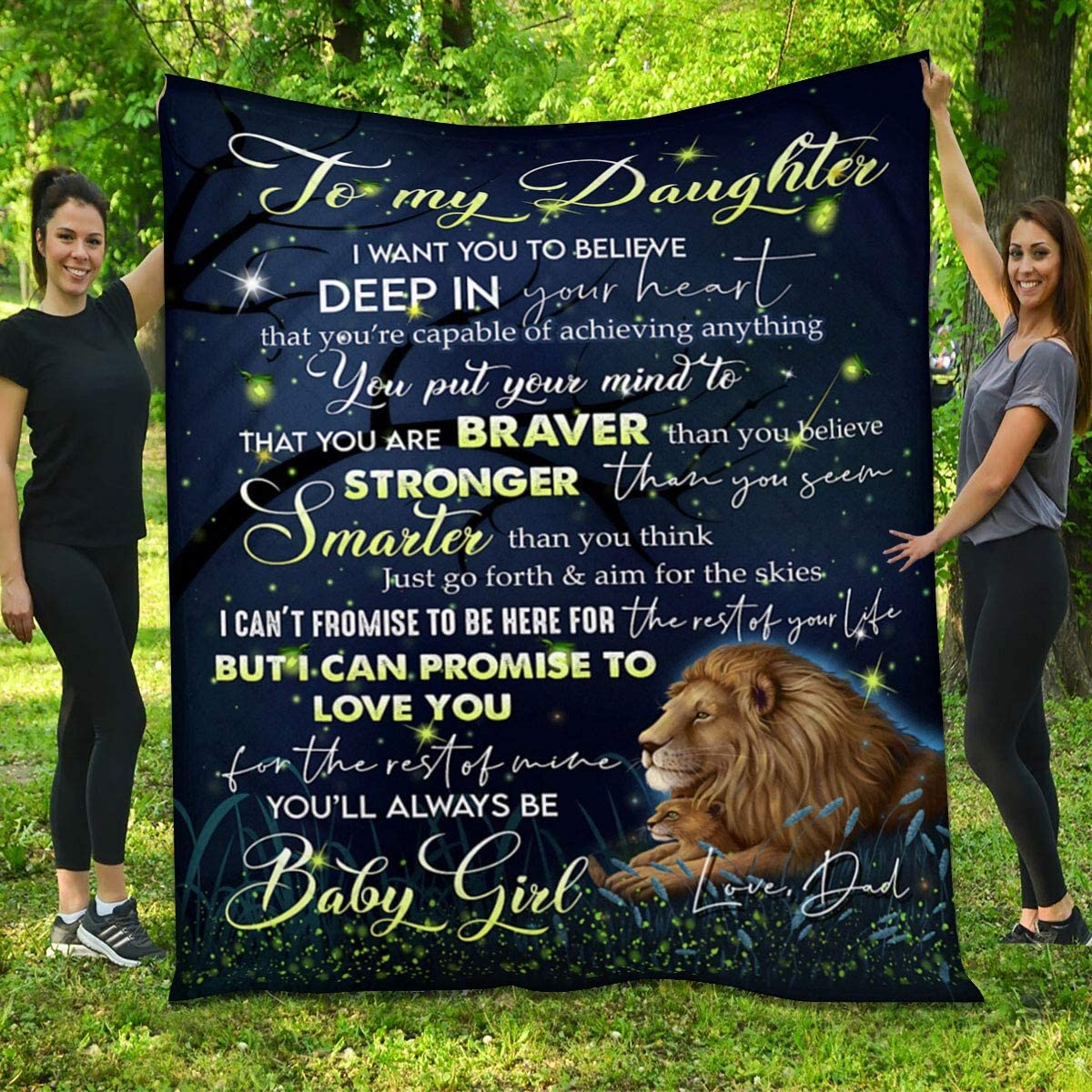 Max 55% Inventory cleanup selling sale OFF Lion Galaxy Quilt - Dad to Will B Be Daughter You Always
