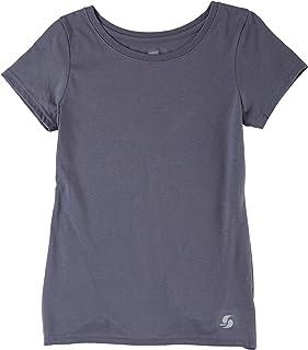 Soffe Women's Juniors No Sweat Short Sleeve Scoop Neck Shirt