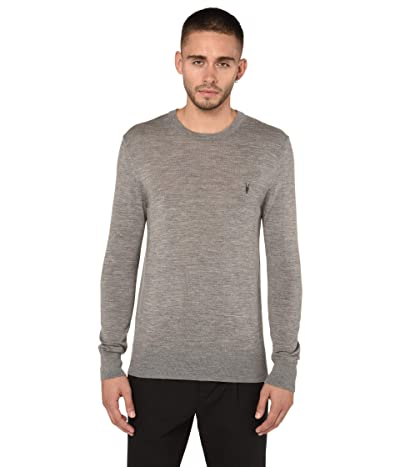 AllSaints Mode Merino Crew Sweater (Grey Marl) Men