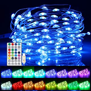 Christmas Fairy String Lights,100 LED 33ft USB Plug Waterproof Twinkle Lights, 16 Colors Changing Lights with 12 Lighting ...