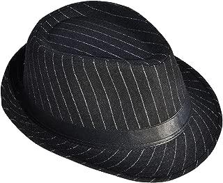 Unisex Mens Womens Classic Lighweight Gangster Short Brim Fedora Hat