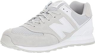 (ニューバランス) New Balance メンズランニングシューズ?スニーカー?靴 ML574 Grey/White グレー/ホワイト 8.5 (26.5cm) D