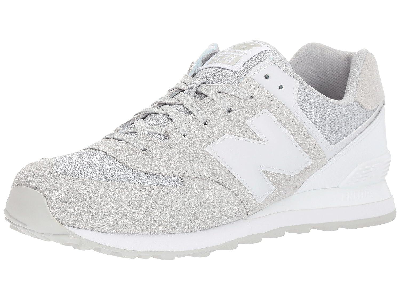 (ニューバランス) New Balance メンズランニングシューズ?スニーカー?靴 ML574 Grey/White グレー/ホワイト 7.5 (25.5cm) EE