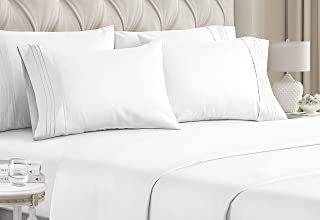 King Size Sheet Set - 6 Piece Set - Hotel Luxury Bed Sheets - Extra Soft - Deep Pockets - Easy Fit - Breathable & Cooling ...