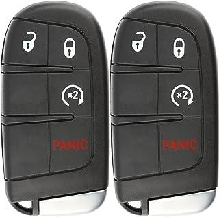 KeylessOption Keyless Entry Remote Car Smart Key Fob Starter for Dodge Journey Durango M3N-40821302 (Pack of 2)