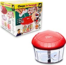 Crank Chop Food Chopper and Processor Deluxe with Japanese Blades - Chop Dice Puree Vegetables Onions Tomatoes Garlic Meats and Nuts in Just Seconds for Delicious Meals - Perfect for Homemade Salsa