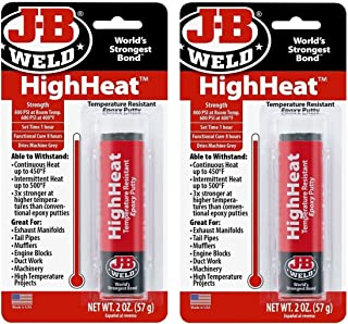 J-B Weld 8297 HighHeat 500 Degree Epoxy Putty-2 Pack