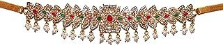 KRELIN Jewellers Traditional Waist Belt Saree Tagdi Kundan & Stone Kamarband for Women Girls Fancy Ethnic Gold Plated Hip ...
