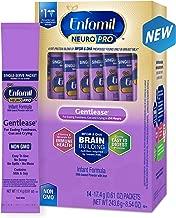Enfamil NeuroPro Gentlease Baby Formula Gentle Milk Powder, 14 single serve packets (17.4 gram each) - MFGM, Omega 3 DHA, Probiotics, Iron & Immune Support