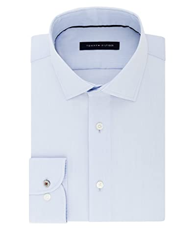 Tommy Hilfiger Dress Shirt Stretch Slim Fit Solid