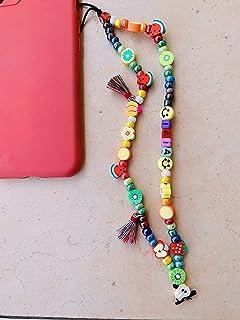 """Phone strap perline charm""""Watermelon"""", personalizzato con lettere e nome. Porta cellulare da polso e gioiello per il tuo t..."""