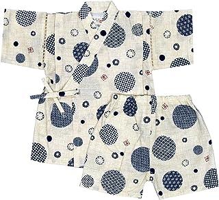 アスナロ(甚平) 甚平 キッズ 男の子 子供服 和柄 ドット 綿100% 上下 ウェストゴム