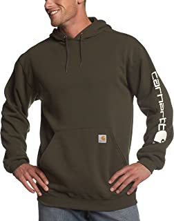 Carhartt Men's Midweight Sleeve Logo Hooded Sweatshirt
