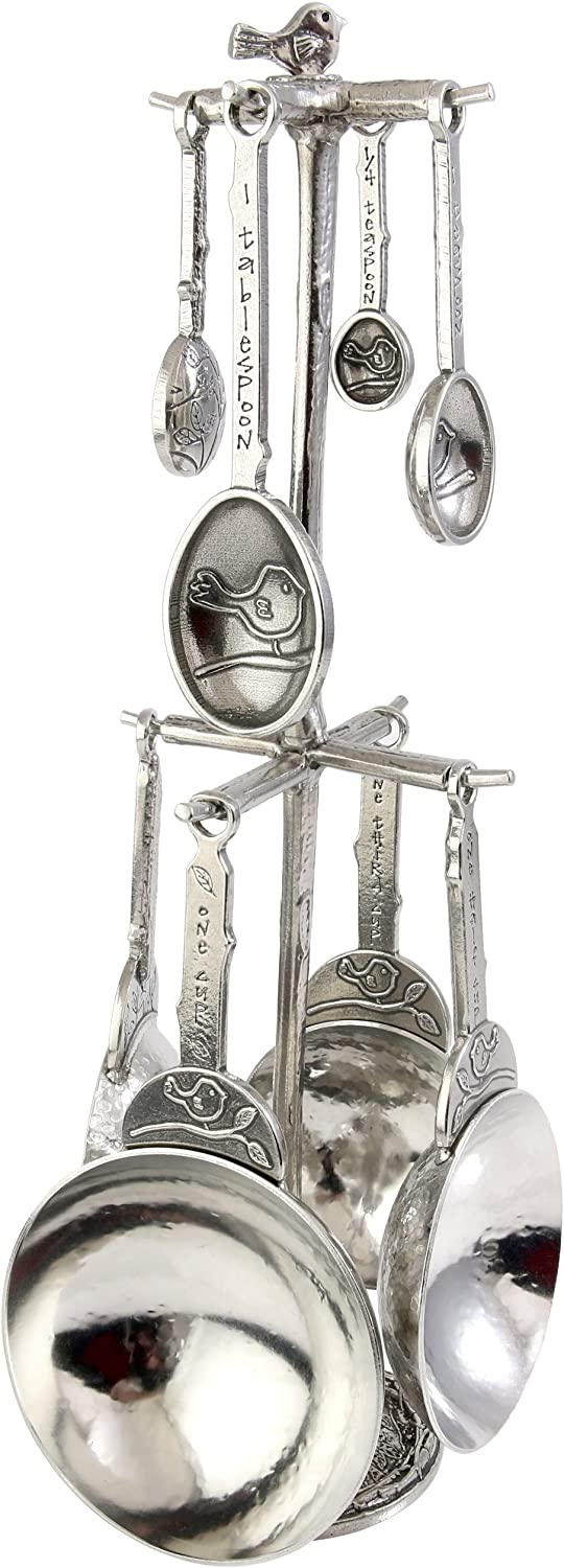 Crosby & Taylor Taylor Taylor Bird Pewter Measuring Cups and Spoons Pewter Superpost Set by Crosby & Taylor B00ESYXZB0 a2a13b