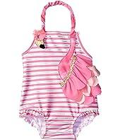 Mud Pie - Flamingo Ruffle Swimsuit (Infant/Toddler)